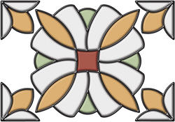 "Brewster Home Fashions Amber Essex Self-Stick Stained-Glass Applique 10.5"" x 7.7"""