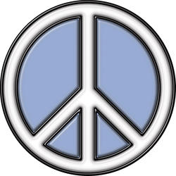 "Brewster Home Fashions Peace Sign Self-Stick Stained-Glass Applique 9"" x 9"""