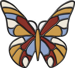 """Brewster Home Fashions Butterfly Self-Stick Stained-Glass Applique 9"""" x 9"""""""