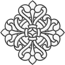 "Brewster Home Fashions Clear Medici Medallion Self-Stick Stained-Glass Applique 9.75"" x 9.75"""