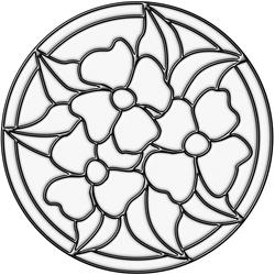 "Brewster Home Fashions Clear Pansy Medallion Self-Stick Stained-Glass Applique 9.75"" x 9.75"""