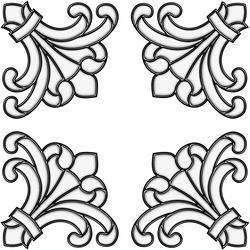 """Brewster Home Fashions Clear Medici Corners Self-Stick Stained-Glass Applique 8.5"""" x 9.5"""""""
