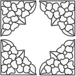 "Brewster Home Fashions Clear Pansy Corners Self-Stick Stained-Glass Applique 8.5"" x 9.5"""