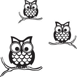 WallPops Give a Hoot Owls Wall Art Kit Decal
