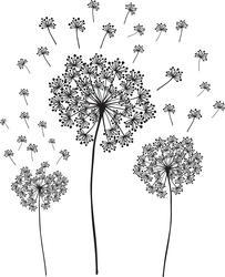 WallPops Dandelions Flowers Wall Art Kit Decal