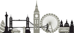 WallPops London Calling Skyline Wall Art Kit Decal