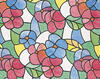 """DC Fix Red and Blue Transparent Self-Adhesive Stained-Glass Window Film 17.75"""" x 157.5"""""""