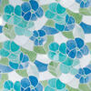"DC Fix Blue and Green Transparent Self-Adhesive Stained-Glass Window Film 17.75"" x 15..."