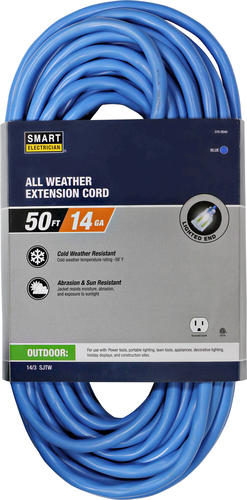 smart electrician 14 3 1 outlet outdoor blue all weather extension cord at menards. Black Bedroom Furniture Sets. Home Design Ideas