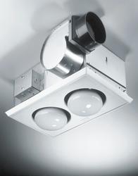 Broan® 164 2-Bulb 70 CFM, 3.5 Sones Heater Fan