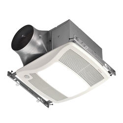 Broan® Ultra X2 Multi-Speed Motion Sensing Bath Fan with Light and Night Light 30-80 CFM