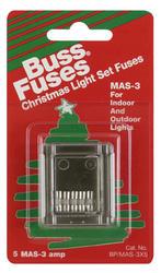 3 Amp Christmas Light Set Fuse, 5 Card