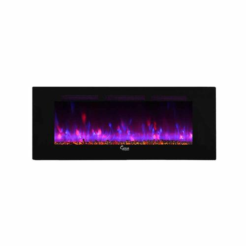 """Wall Mount Electric Fireplace Or Recessed Within Designs: Caesar 60"""" Flat Wall Mount Electric Fireplace (Wall-Mount"""