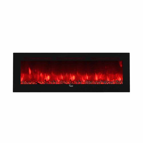 """Wall Mount Electric Fireplace Or Recessed Within Designs: Caesar 74"""" Flat Wall Mount Electric Fireplace (Wall-Mount"""