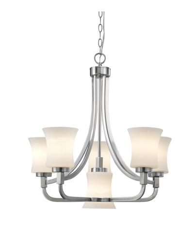 Patriot Lighting Joelle Brushed Nickel 23 1 2 6 Light Chandelier With