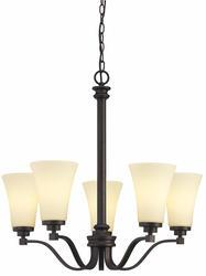 "Patriot Lighting® Aodi 5-Light GU24 26"" Oil Rubbed Bronze Chandelier"