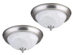"""Patriot Lighting® Twin Pack 1 Light GU24 11"""" Brushed Nickel Flushmount"""