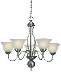 Patriot Lighting Irelyn 5 Light 24 Brushed Nickel Chandelier At Menards