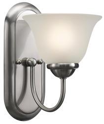"""Patriot Lighting® Irelyn 1-Light 9.78"""" Brushed Nickel Wall/Vanity Light"""