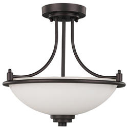 "Patriot Lighting® Camden 3-Light 15"" Oil Rubbed Bronze Semi-Flush Mount"
