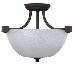 """Patriot Lighting® Grenadier 3-Light 14.75"""" Oil Rubbed Bronze Convertible Pendant or Semi-Flushmount Ceiling Light"""