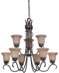 """Patriot Lighting® Sophia 9-Light 29"""" Oil Rubbed Bronze Chandelier"""