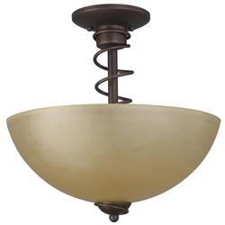 """Patriot Lighting® Sophia 3-Light 13.5"""" Oil Rubbed Bronze Semi-Flush Mount Light"""
