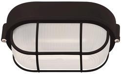 "Patriot Lighting® Nautical 1-Light 8.5"" Black Oblong Wall/Ceiling Outdoor Light"