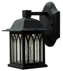 "Patriot Lighting® Sante Fe 1-Light 9.5"" Black Outdoor Downlight"