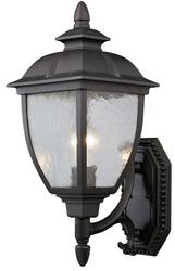 "Patriot Lighting® Richfield 1-Light 17.75"" Black Outdoor Wall Uplight"