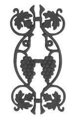 Carolina Stair Cast Iron Slip-On Applique with Grapes Design