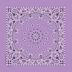 "22"" x 22"" Lavender Paisley Bandanna"