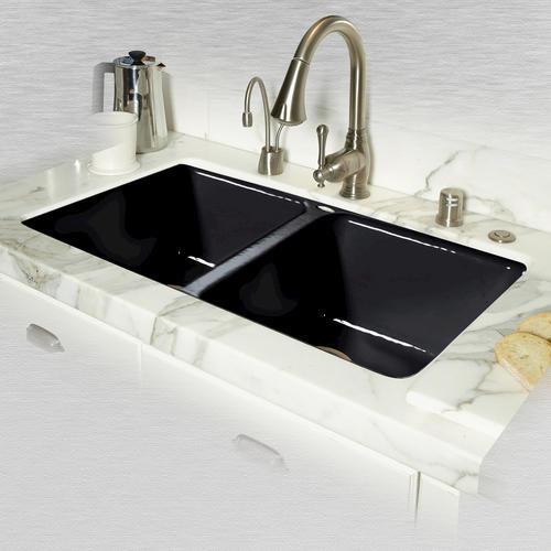 "Kitchen Sink 19 X 33: CECO Doheny 748 33"" X 19 1/2"" X 8"" Cast Iron Double Bowl"