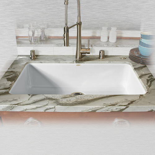 "Kitchen Sink 19 X 33: CECO Delray 754 33"" X 19 1/2"" X 9"" Cast Iron Single Bowl"