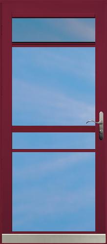 Chamberdoor Century 34 X 80 Nickel Hardware Aluminum Splitview Storm Door At Menards