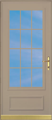Chamberdoor oaklawn 32 x 80 brass hardware woodcore for 32x80 storm door