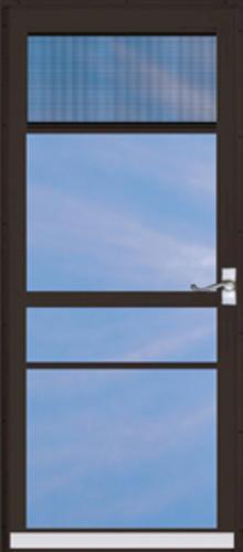 Chamberdoor Regal 34 X 80 Nickel Hardware Aluminum Splitview Storm Door At Menards