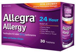 Allegra 24-Hour Non-Drowsy Allergy Relief - 30 Tablets