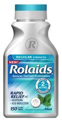 Rolaids Regular Strength Mint Antacid/Dietary Supplement - 150 Tablets