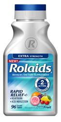 Rolaids Extra Strength Fruit Antacid/Dietary Supplement - 96 Tablets