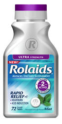Rolaids Ultra Strength Mint Antacid/Dietary Supplement - 72 Tablets