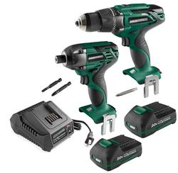 Masterforce® 20-Volt Drill and Impact Driver Combo