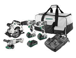Masterforce® FlexPower® 20-Volt 4 Tool Combo Kit with 3 Batteries and 4 Port Charger
