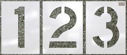 "1/16"" Light Duty, 12 pc Number Kit 12"" x 9"""