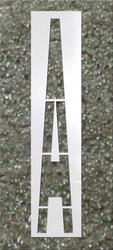 "96"" x 16"" DOT/FHWA Single Letter Stencil ""H"""