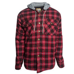 Assorted Lined Hooded Flannel Jackets