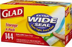Glad Gallon Food Storage Zipper Bags - 144 ct.