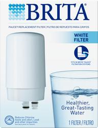 Brita White Faucet Mount Replacement Filter