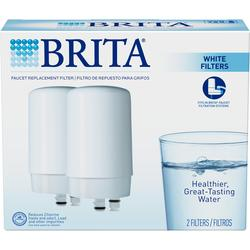 Brita White Faucet Mount Replacement Filters - (2-Pack)