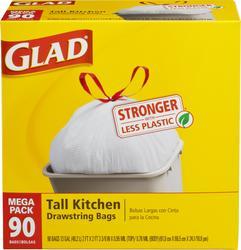 Glad Tall Kitchen Drawstring Bags - 90 ct. / 13 gal.